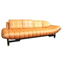 50s Hollywood Regency Tufted Sofa