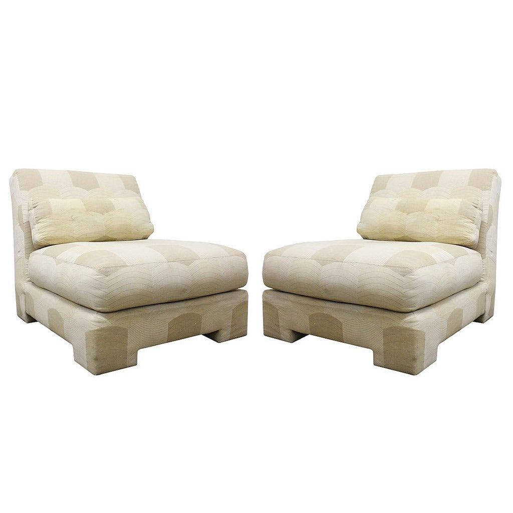 Pair of Slipper Lounge Chairs by Milo Baughman for Thayer Coggin For Sale