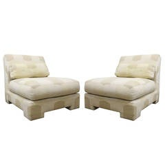 Pair of Slipper Lounge Chairs by Milo Baughman for Thayer Coggin