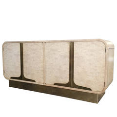 Bleached Burl Wood Credenza by Mastercraft