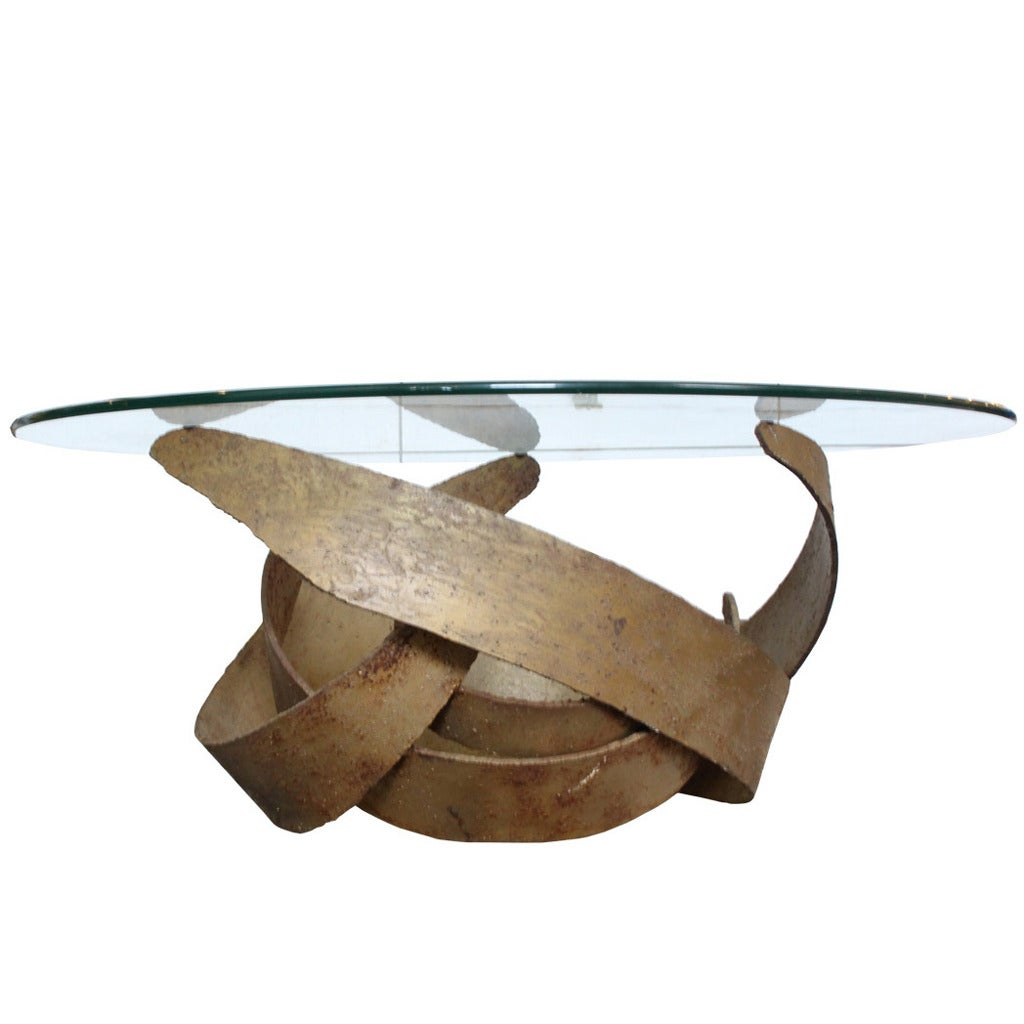 Brutalist coffee table base by silas seandel at 1stdibs Bases for coffee tables