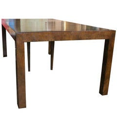 Burl Dining or Console Table by John Widdicomb
