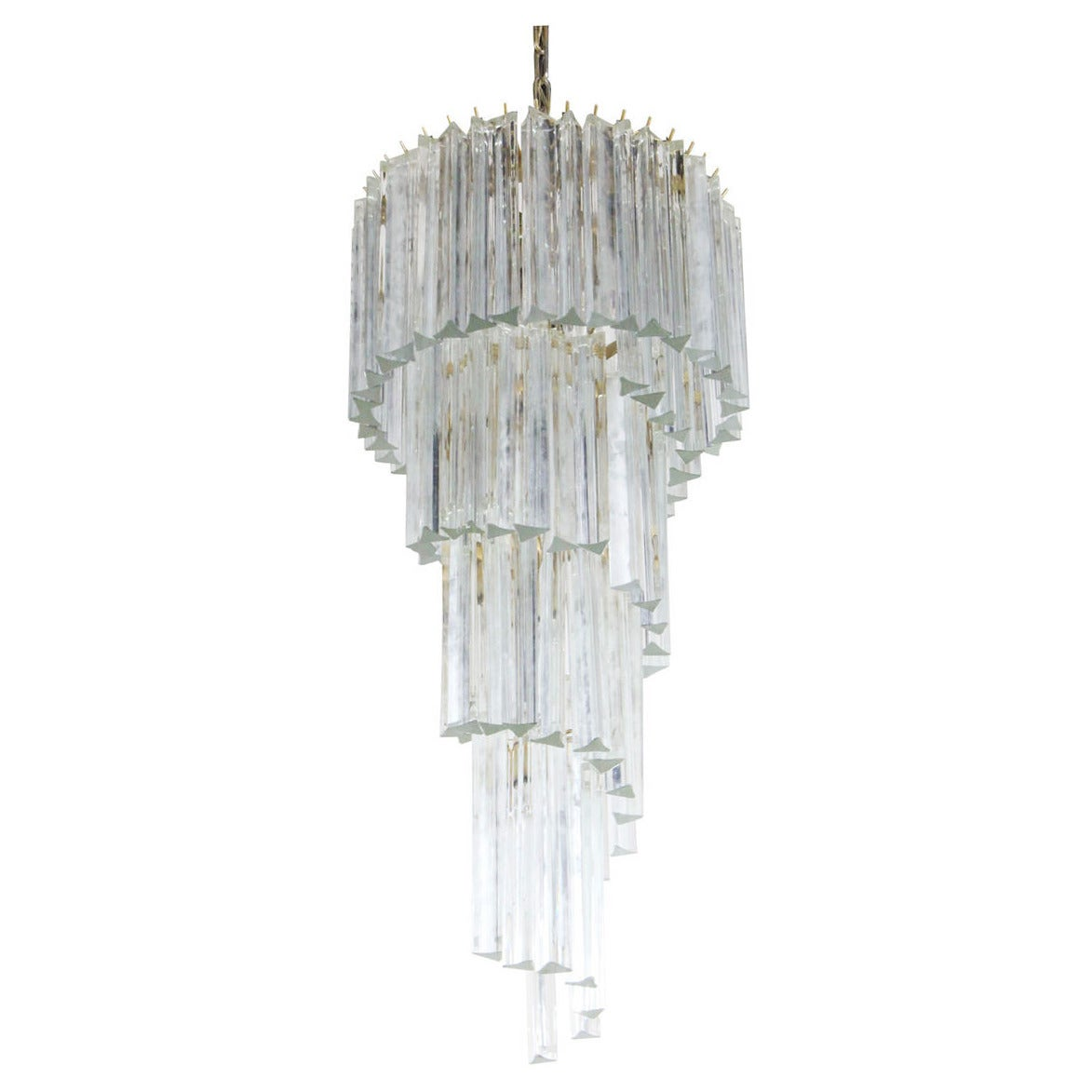 Spiral venini crystal chandelier at 1stdibs spiral venini crystal chandelier for sale aloadofball Images