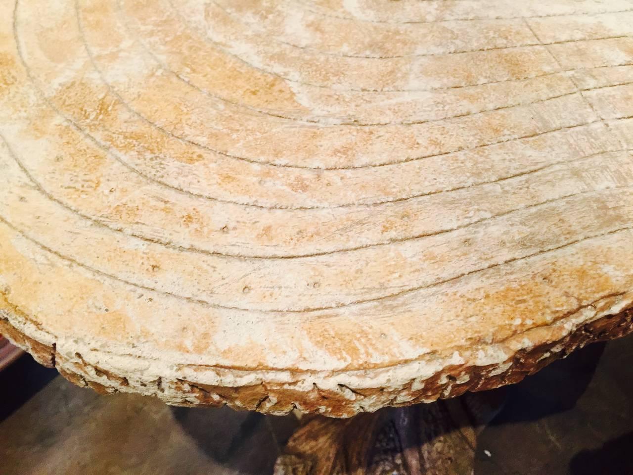 Faux Bois Cement : Faux bois d arc concrete table at stdibs