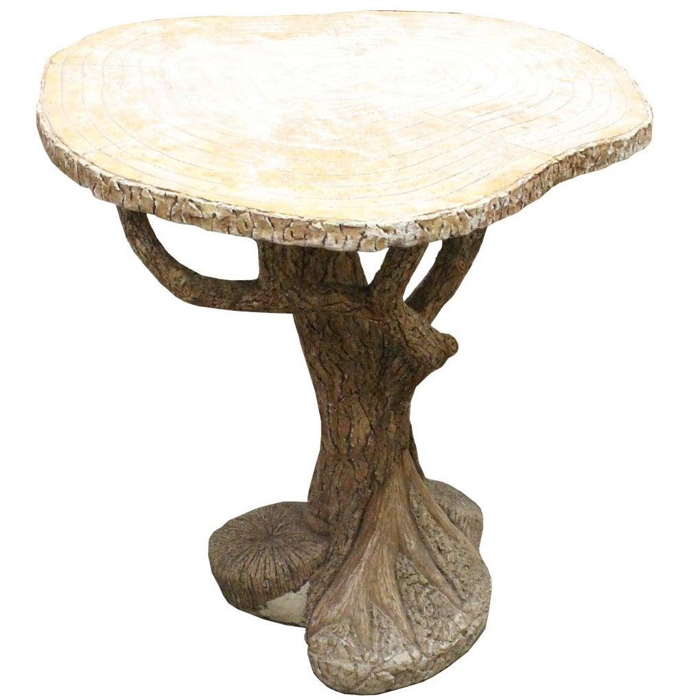 Faux Bois D 39 Arc Concrete Table At 1stdibs
