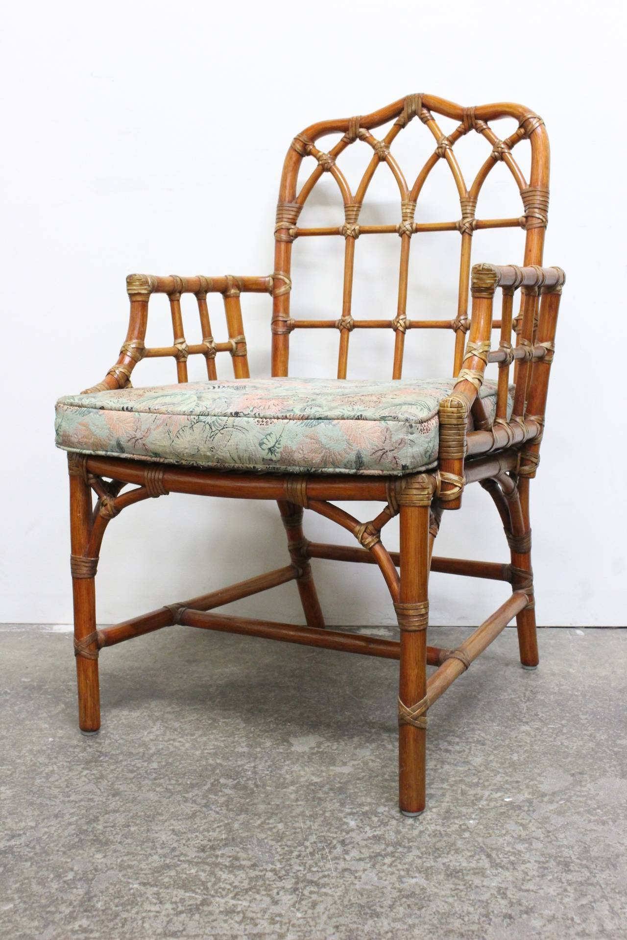 set of six mcguire dining chairs at 1stdibs