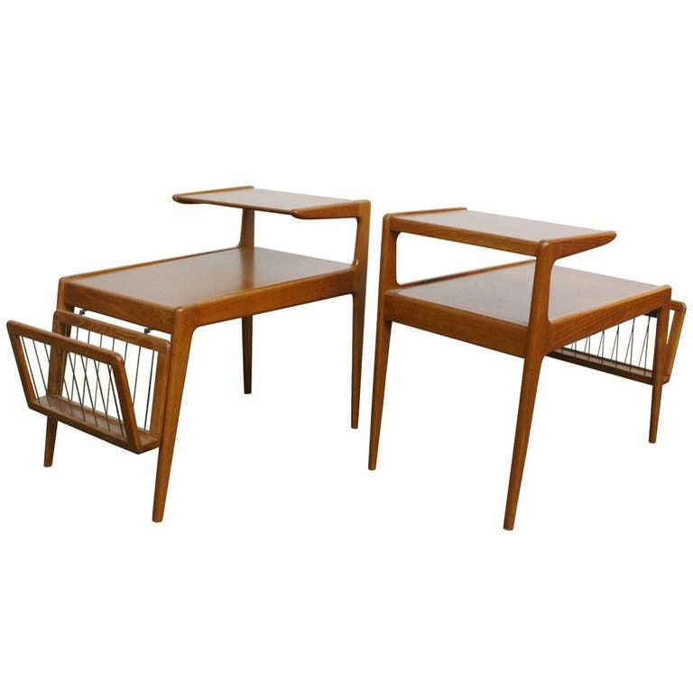 Pair Danish Teak Side Tables By Kurt Ostervig 1