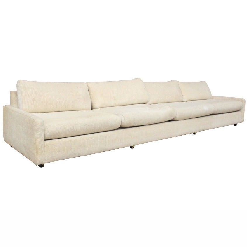 Large scale sofa in the style of milo baughman at 1stdibs for Large scale sectional sofa