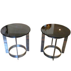 Pair of 1970s French Disco Side Tables
