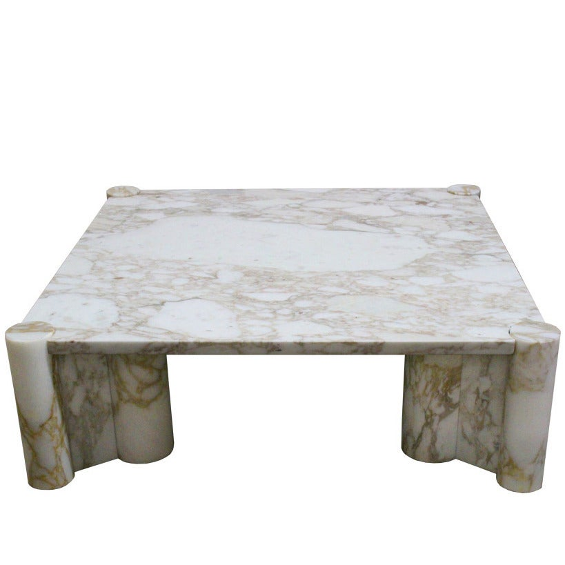 Carrara Marble Jumbo Table Coffee Table By Gae Aulenti For Knoll At 1stdibs