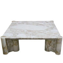 "Carrara Marble ""Jumbo Table"" Coffee Table by Gae Aulenti for Knoll"
