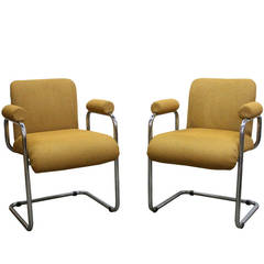 Pair of Modern Occasional Chairs by Mariani for Pace