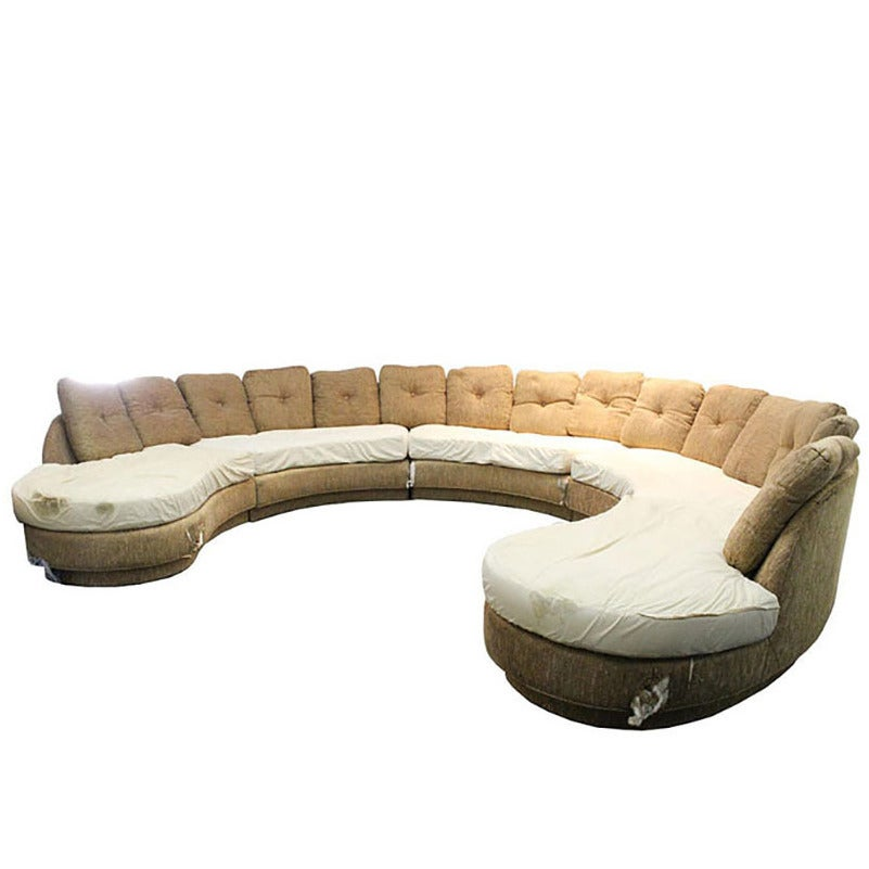 horseshoe sectional sofa by erwin lambeth at 1stdibs
