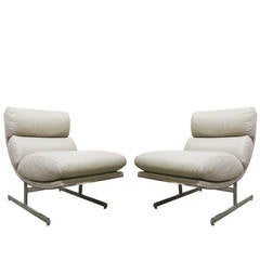 Pair of Leather Chairs by Kipp Stewart for Directional