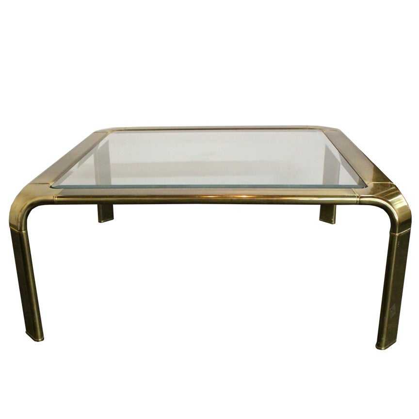 Brass Waterfall Coffee Table By John Widdicomb For Sale At 1stdibs