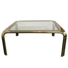 Brass Waterfall Coffee Table by John Widdicomb