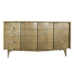 Twelve (12) Drawer American of Martinsville Mahogany Dresser