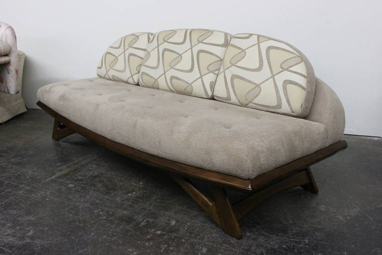 Gondola Sofa in the Style of Adrian Pearsall at 1stdibs