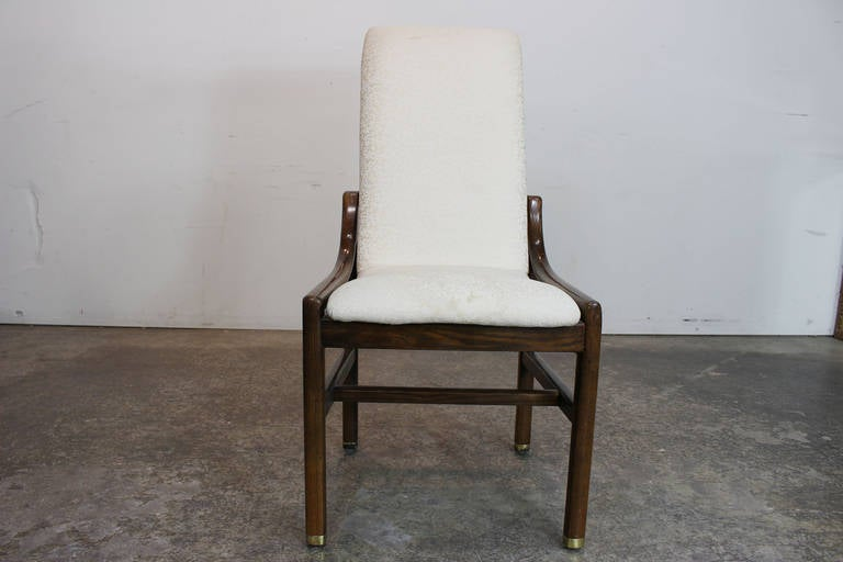 set of six henredon dining chairs in walnut at 1stdibs