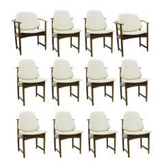 Set of Twelve (12) Danish Modern Teak Chairs by Hovmand Olsen