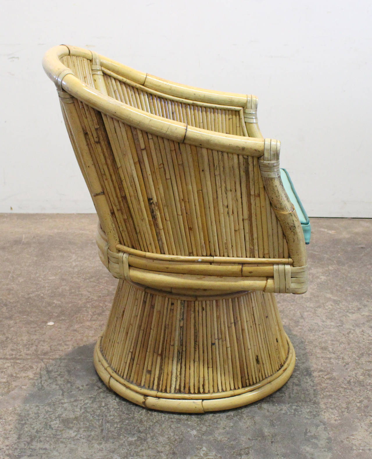 Set Of Four Mcguire Rattan Chairs At 1stdibs
