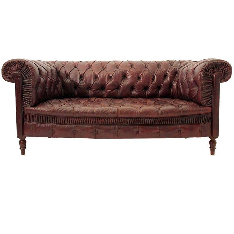 Leather Sofas Gloucestershire: 19th Century Red Leather Chesterfield Sofa At 1stdibs