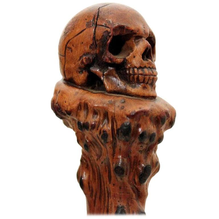 Walking stick canes and walking sticks pinterest - 19th Century Skull Walking Stick At 1stdibs