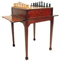 19Th Century Anglo Indian Campaign Chess Table
