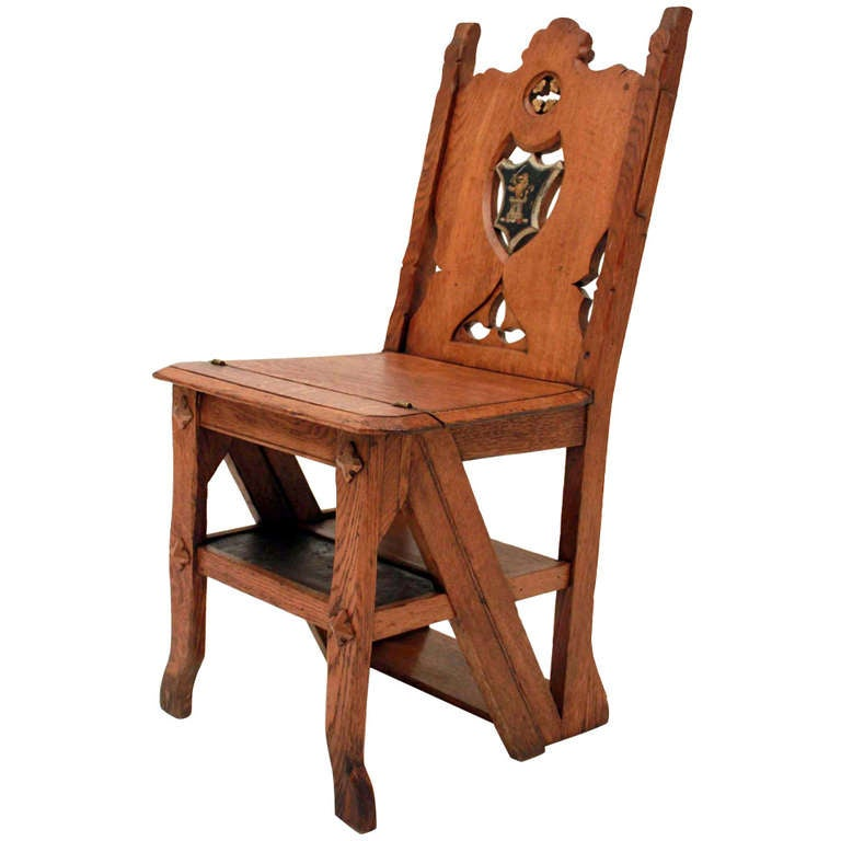 19th Century Metamorphic Library Chair At 1stdibs