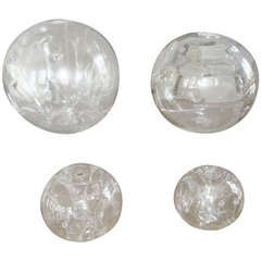 Three Large Art Glass Spheres by Peter Bramhill