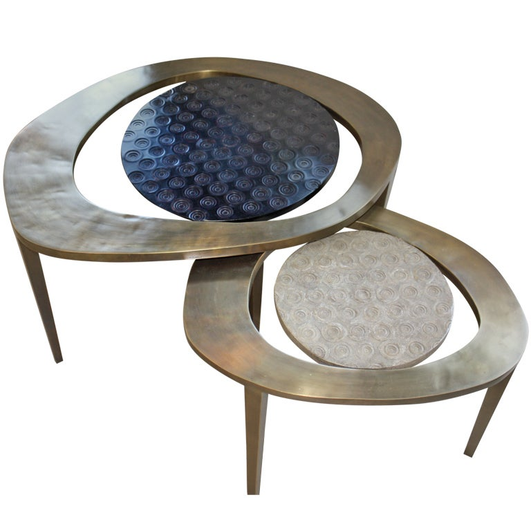R And Y Augousti Nesting Coffee Table At 1stdibs