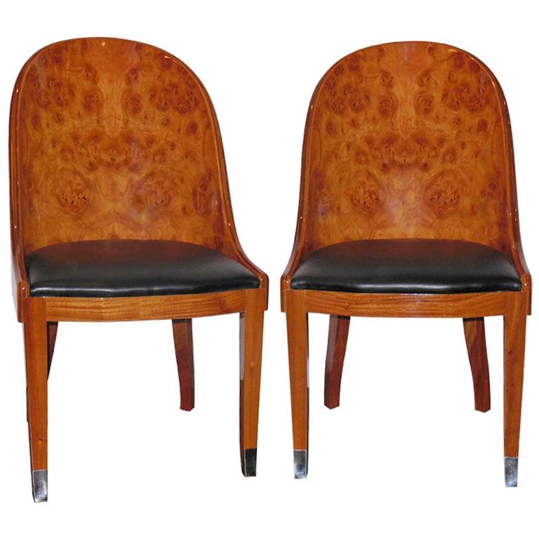 Pair Of Biedermeier Chairs At 1stdibs