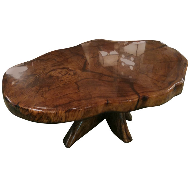 Large Burl Tree Root Table At 1stdibs