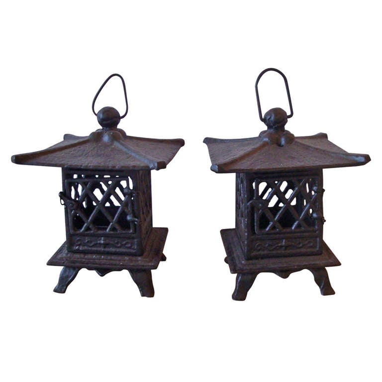 Cast Iron Asian Lanterns At 1stdibs
