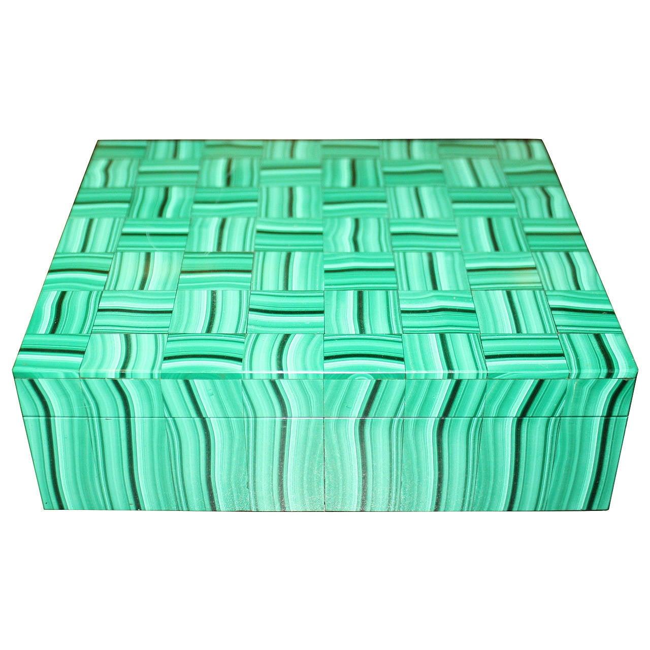 Malachite Hinged Box