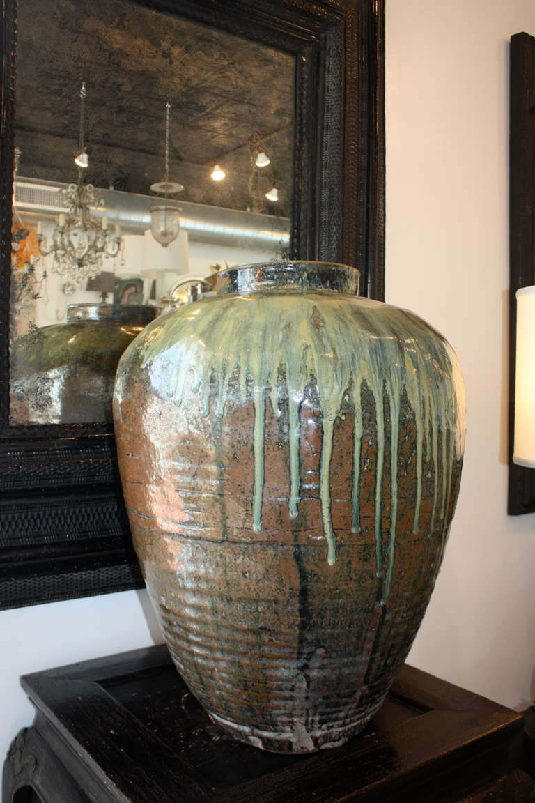 Pair Of Extra Large Ceramic Pots At 1stdibs