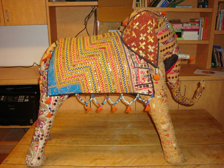 Huge Elephant Made In India At 1stdibs