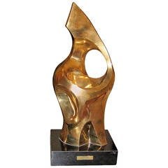Abstract Gilt Bronze Sculpture by Seymour Meyer