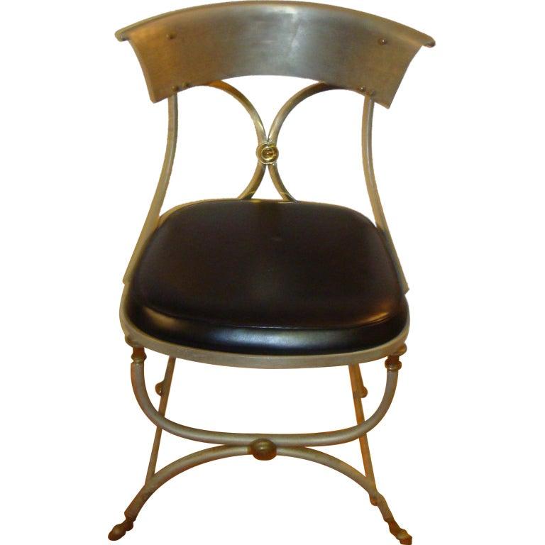 Maison Jansen Metal Side Chair At 1stdibs