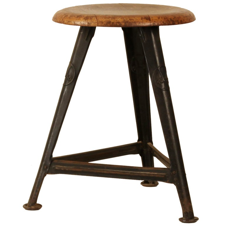 1 of a set of 2 industrial stools rowac by robert wagner. Black Bedroom Furniture Sets. Home Design Ideas