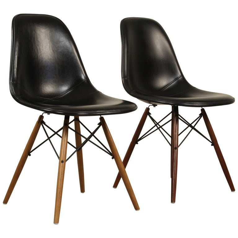 1960 39 s herman miller armless chairs charles eames at 1stdibs - Fauteuil herman miller ...