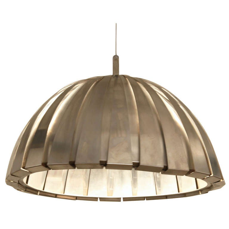 XXL Elio Martinelli Satin Steel Ceiling Lamp Great