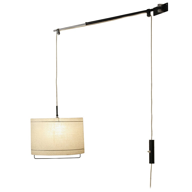 Wall Desk Lighting : 1950 s Artimeta wall/desk lamp with articulating arm at 1stdibs