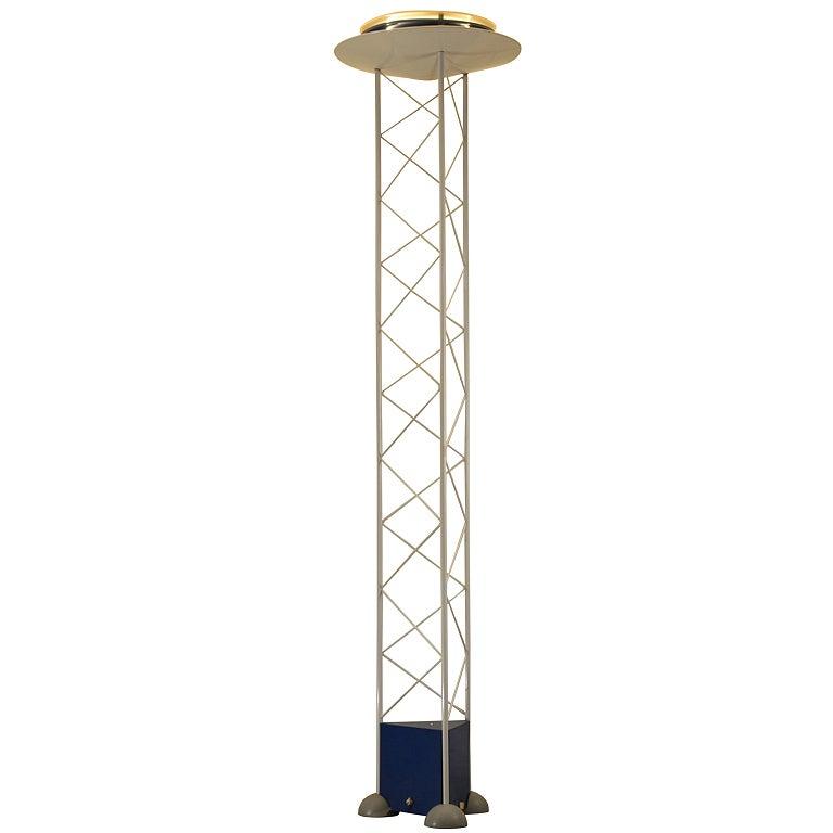 Sottsass Memphis Style Alta Lite Modernist Floor Lamp At