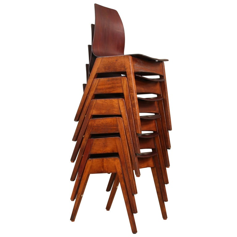 set of 6 39 fifties 39 chairs wooden 39 v 39 compass structure at 1st