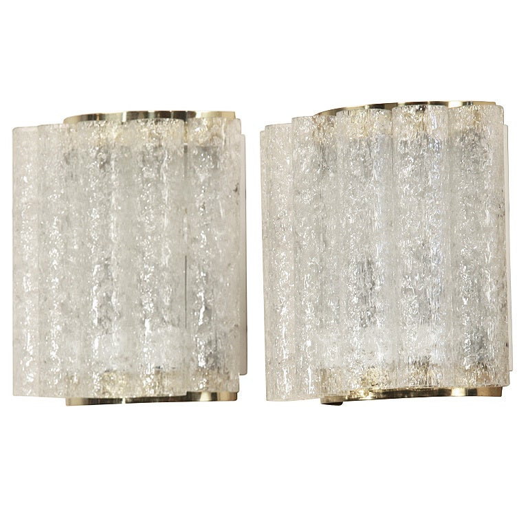 Wall Sconces High End : Wonderful Pair of High-End Doria Wall Lamps at 1stdibs