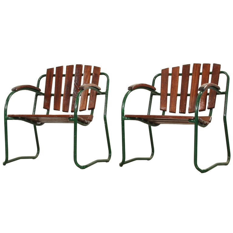 bauhaus style outdoor lounge chairs at 1stdibs. Black Bedroom Furniture Sets. Home Design Ideas