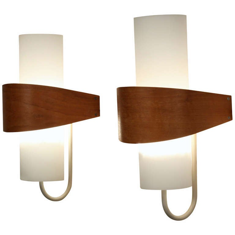 Philips Wall Lamp Shades : Louis C. Kalff for Philips Wall Lights NX40 at 1stdibs