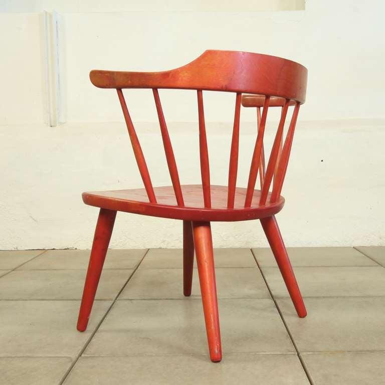 """Vintage 1950's""""Arka"""" Chair designed by Yngve Ekström for Stolab at 1stdibs"""