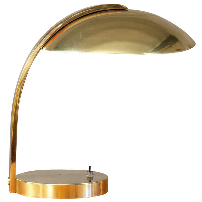 High End Luxury All Brass Table Lamp At 1stdibs